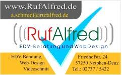 Visitenkarte: Rufalfred (Alfred Schmidt)